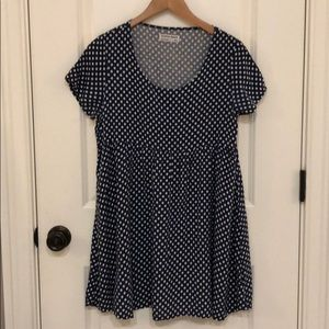 American Apparel babydoll polka dot dress XS/S